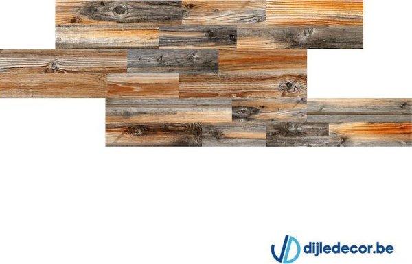 Houtlook wandpaneel | 2,5m2 | 100cm x 16cm | DDWD02