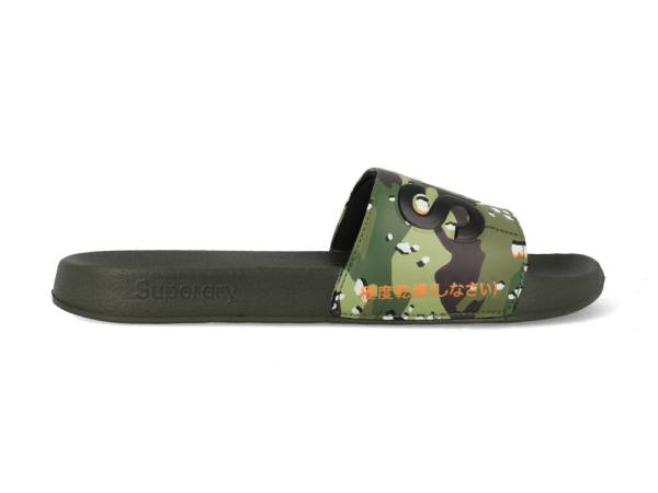 Superdry Slippers MF300004A-F28 Groen-44/45