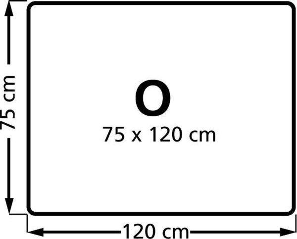 Stoelmat Vloermat voor harde vloeren Rechthoek 75x120cm.