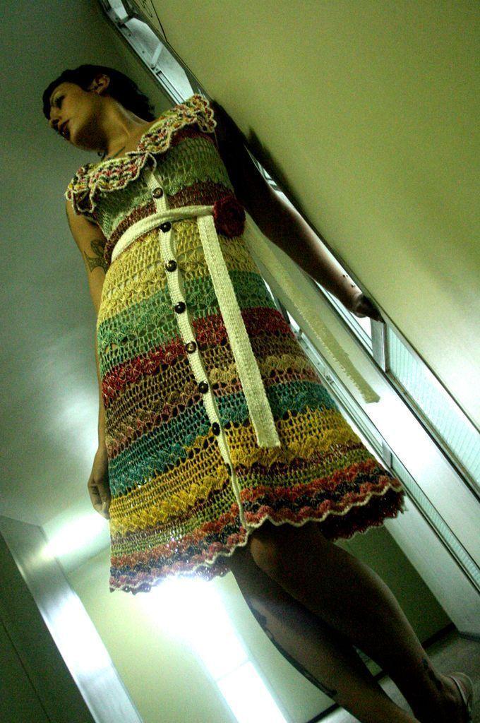 Vestido rayas color