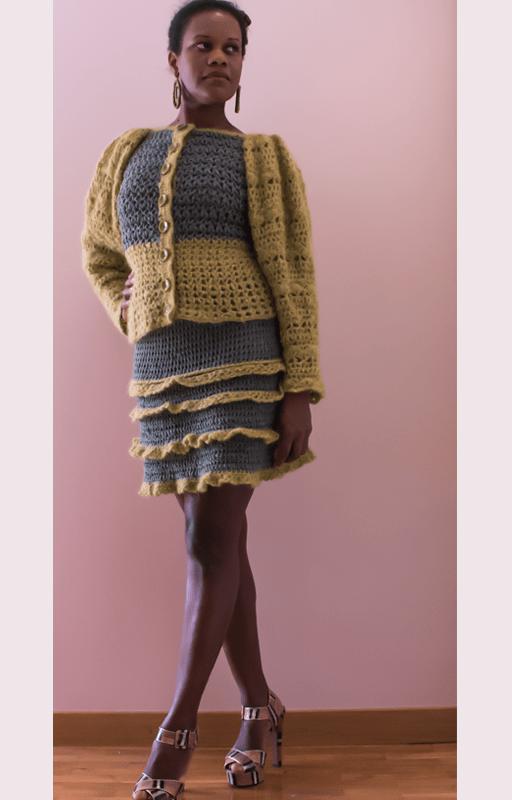 Ruffled skirt power soft