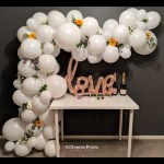White Balloon Garland Diy Kit 5 To 25 Includes Everything That You Will Need For Assembly All Events Prints Party Decor