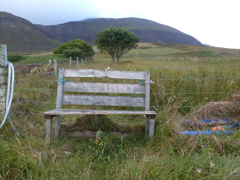Jimmy's bench on Hoy