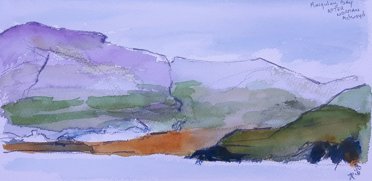 Watercolour after Norman Ackroyd, Mingulay Bay