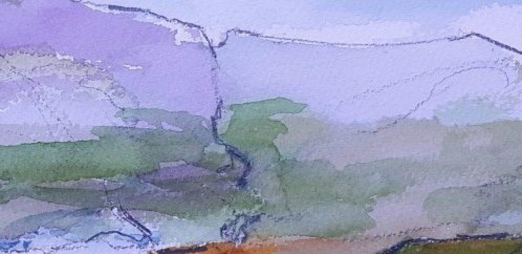 Watercolour after Norman Ackroyd, Mingulay Bay