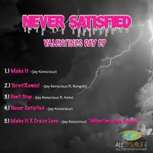 Never Satsified Back Album Cover