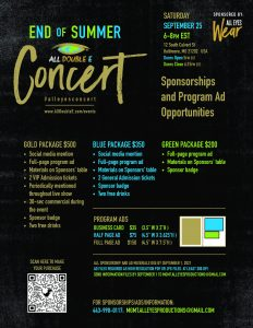 Sponsorship Flyer for Concert
