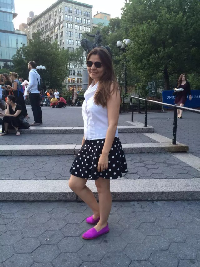 skirt polka dot