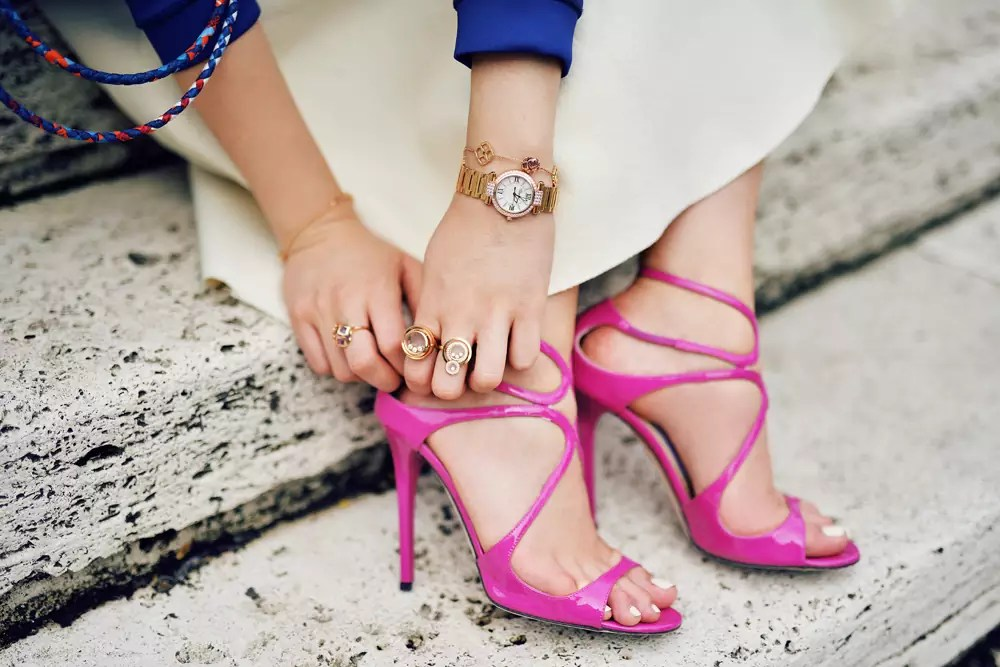 67e9021e3e89 why designer shoes are so expensive fashion blogger alleygirl newyork kristina bazan kayture.  Kristina Bazan s  850 Jimmy Choo Sandals.