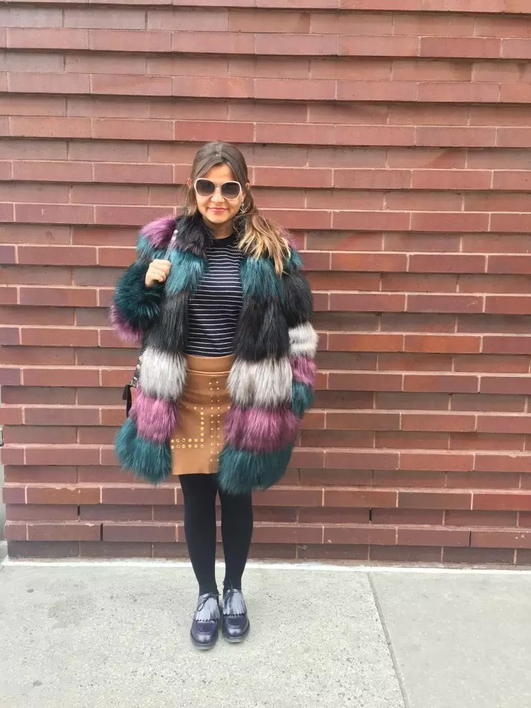 color fur jacket street style6