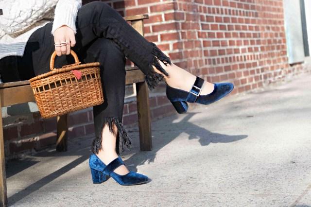 fringe-jeans-velvet-mary-jane-shoes
