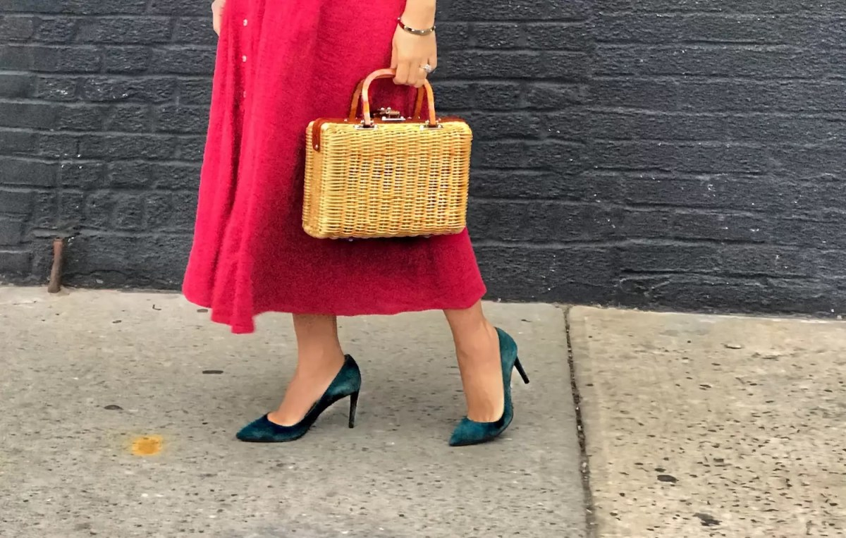 Midi Length Red Dress for Winter