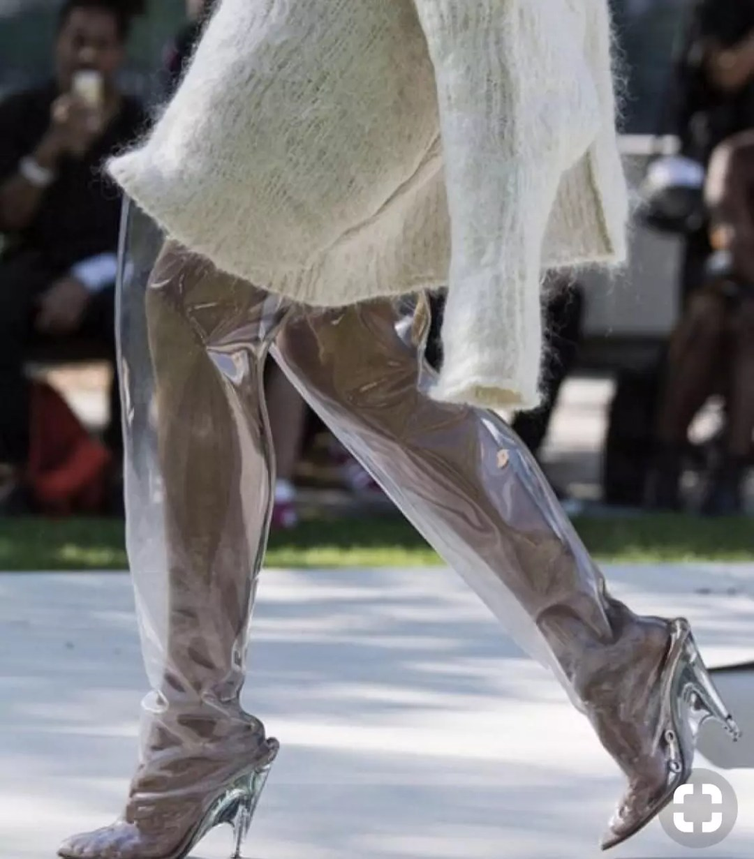 yeezy season 4 transparent boots runway alley girl - Who did Design the Very First Clear Transparent Shoes?