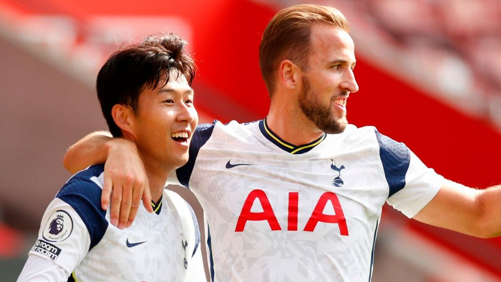 Son (left) and Kane (right) have been the most successful strike partnership in the league so far | Image: Getty Images, Tottenham Hotspur predicted lineup vs Aston Villa