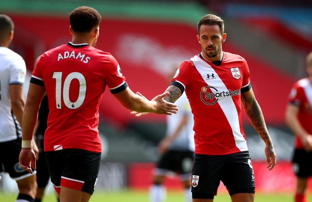 Southampton forwards Che Adams (left) and Danny Ings (right) | Source: Getty Images, Southampton predicted lineup vs Liverpool