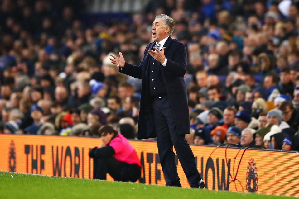 Carlo Ancelotti and co had a frustrating night at The Goodison Park against West Ham | Image: Forbes, Everton predicted lineup vs Rotherham