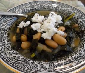 Kale & White Bean Soup with Feta