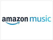 Amazon Music logo with black and blue text