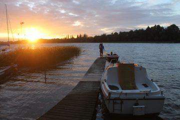zachód słońca camping borowo