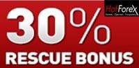 Forex deposit bonus, Hotforex deposit bonus, 30% rescue bonus