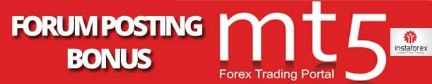 Forex Forum Posting Bonus MT5 InstaForex