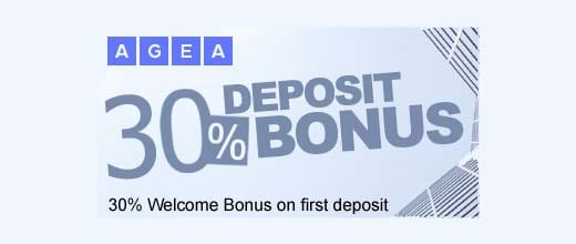 30% Welcome Deposit Bonus