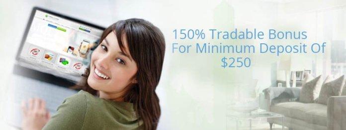 150% Forex trade able bonus