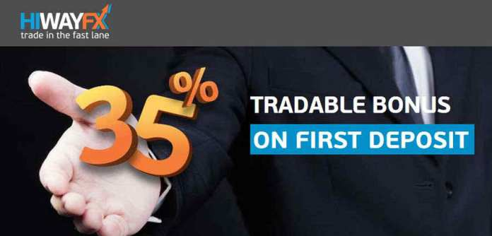 Forex 35% Tradable Bonus on First Deposit