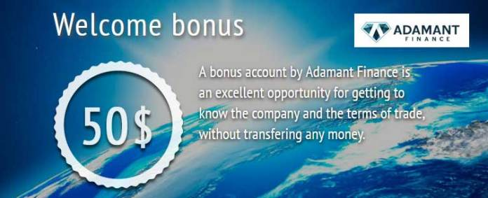 Adamant Finance $50 NON-Deposit Forex Bonus