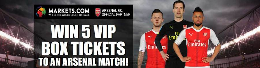 Markets.com Win Arsenal F.C. VIP Tickets
