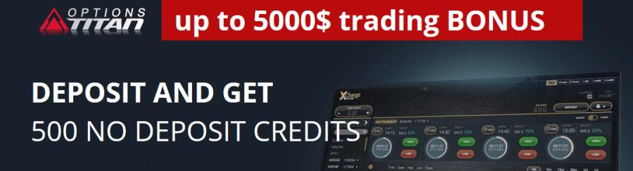 Options Titan no deposit bonus