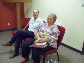 Jayne (HBH Minister) and her husband, Lory, came to help