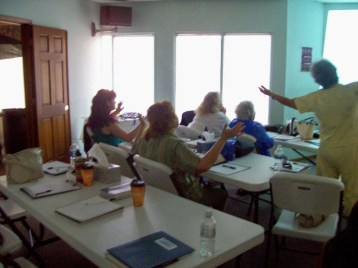 Group worshipping the Lord - Day 2!