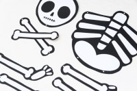 halloween skeleton cut out templates