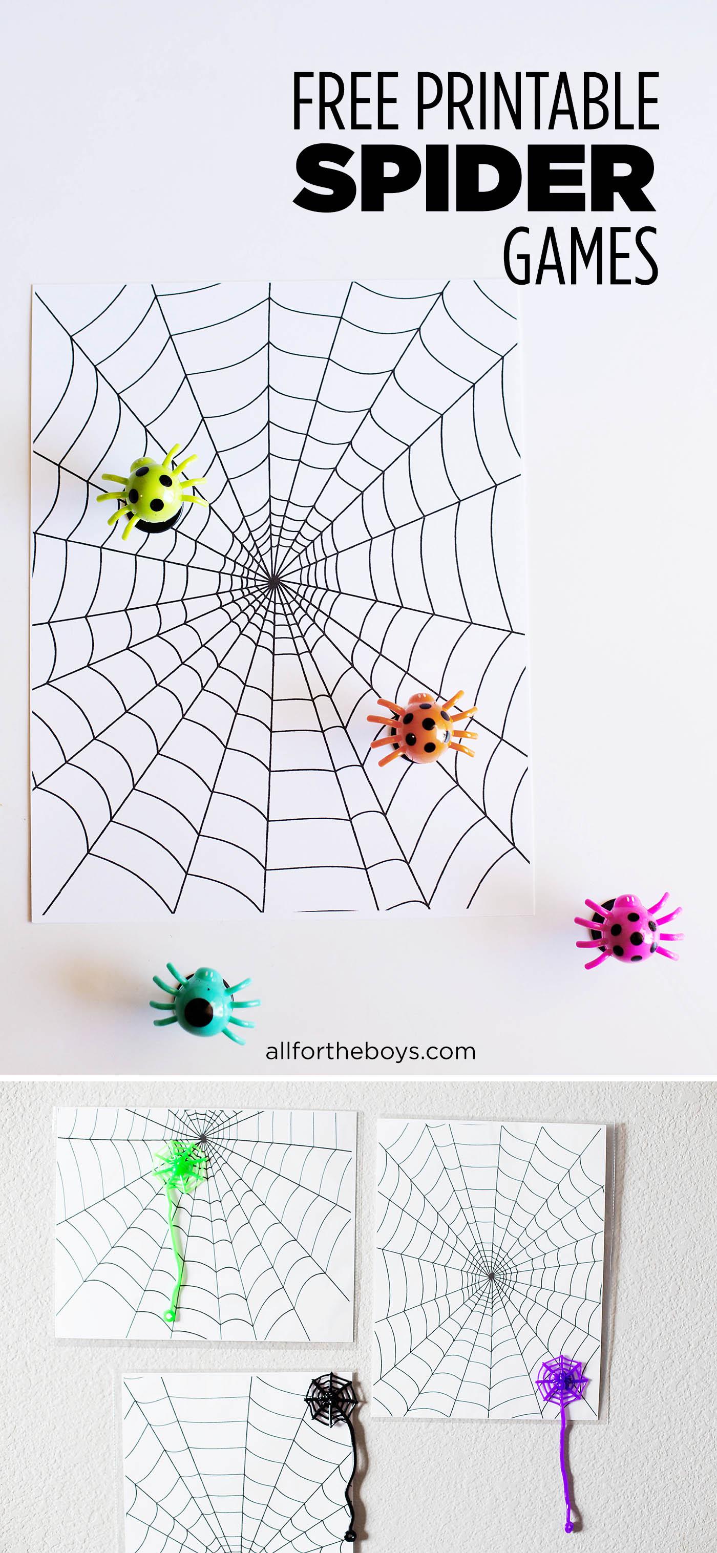 Printable Spider Games