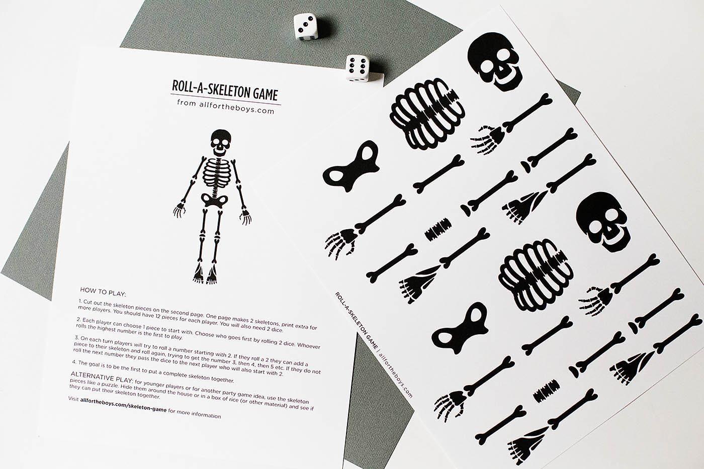Skeleton Printable That Are Massif