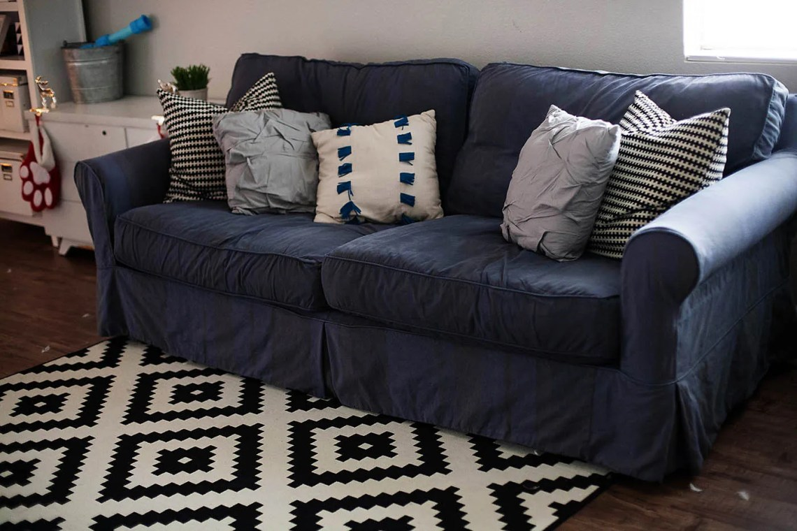 How To Dye A Sofa Slipcover All For The Memories ~ Light Blue Sofa Slipcovers