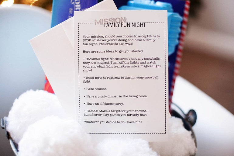 Mission: Family fun night gift/activity idea