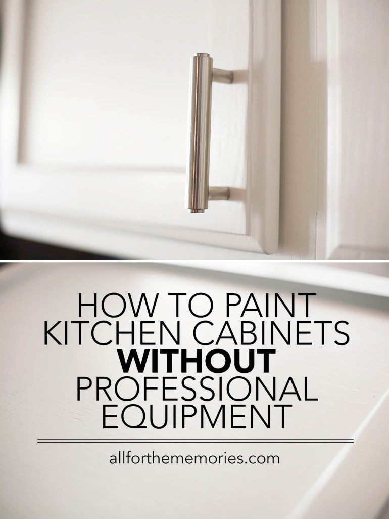 How to paint kitchen cabinets without professional equipment (or chalk paint)