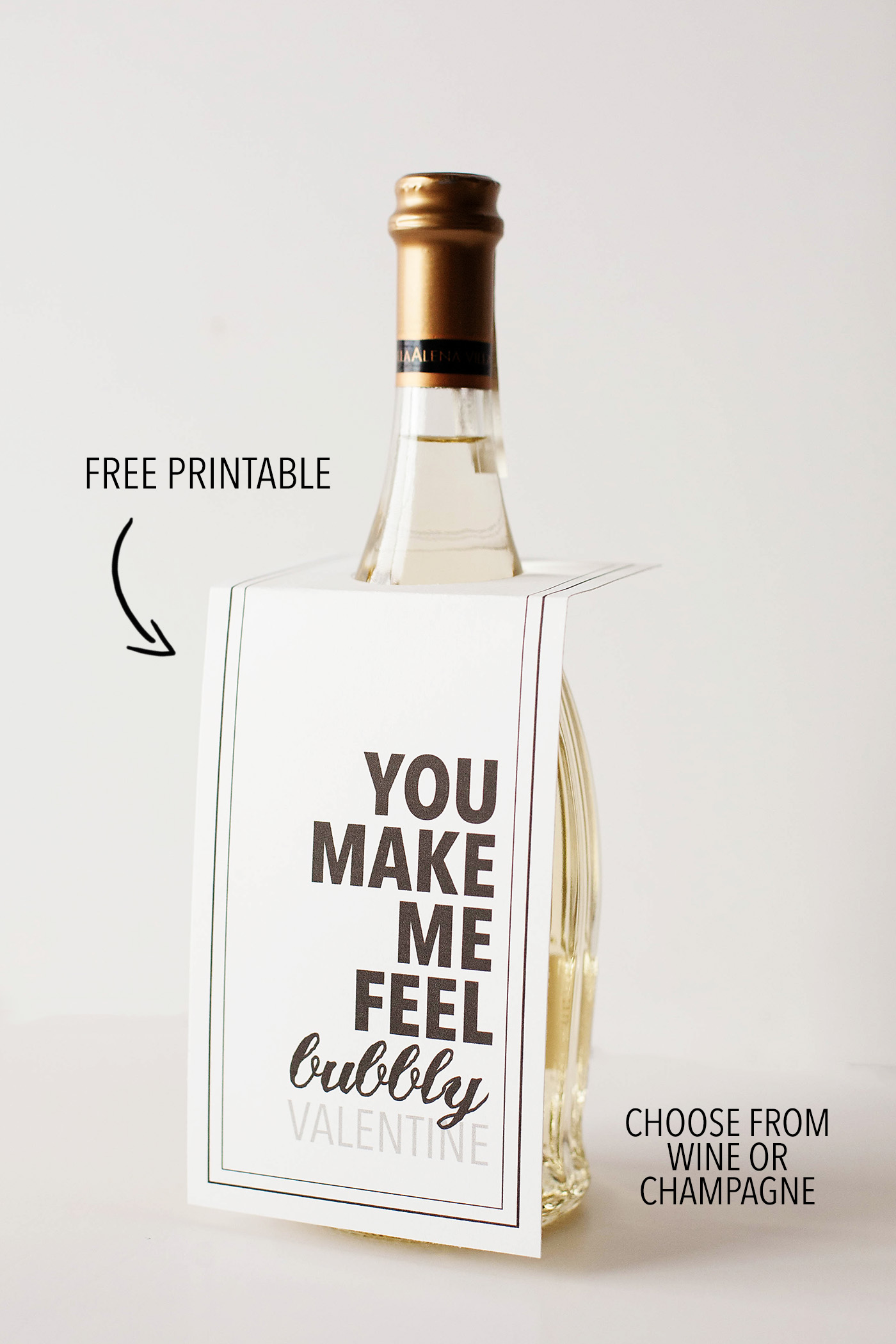 Free Printable Wine Or Champagne Valentines