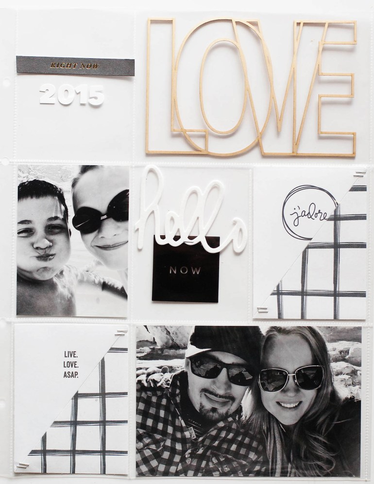 2015 Project Life Title Page - 9x12 size