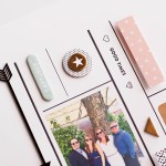 Tips on using digital stamps on a scrapbook page