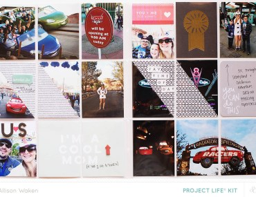 Allison Waken Disneyland Project Life Spread