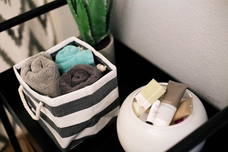 One cart, 3 ways - great ideas to use a cart for home organization at All for the Memories