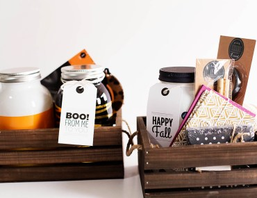 """Fall or Halloween printable tags for a fun """"just because gift basket or to Boo your neighbors!"""