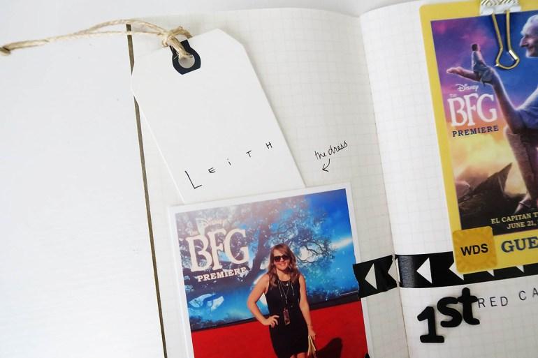 Red Carpet spread in a Traveler's Notebook