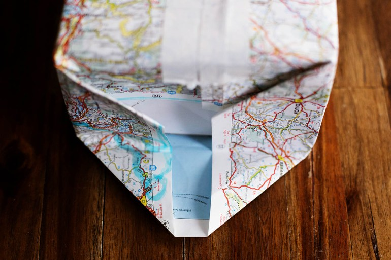 DIY paper bag from a map