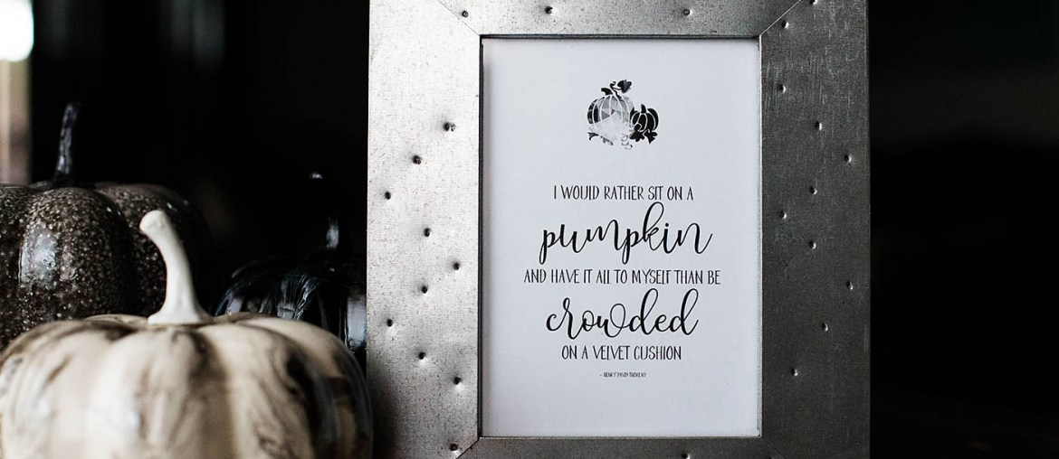 Printable Thoreau Pumpkin Quote