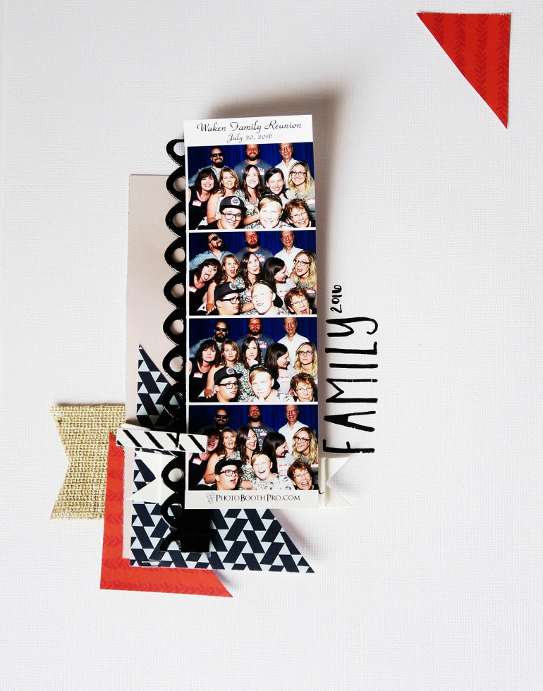 Target Dollar Spot Scrapbooking Challenge from All for the Memories blog