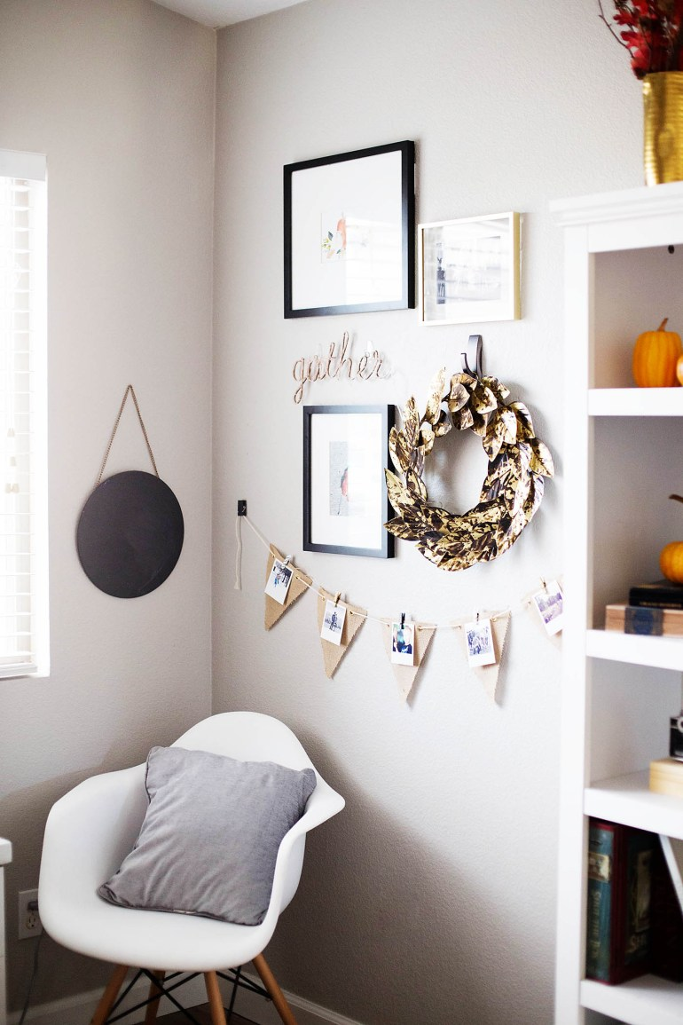 Fall memories wall gallery - a great idea to put up for fall and switch out for each season!
